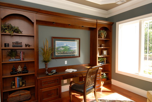 cherry wood stained home office traditional home office cherry wood home office