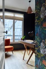 5 Avant/après de chambres transformées en bureaux