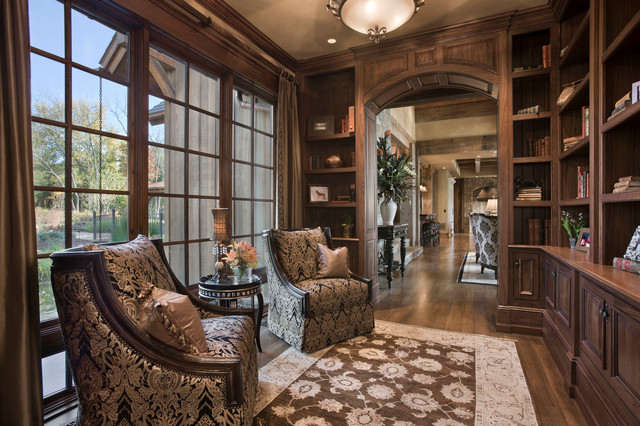 Chimney Rock Residence Rustic Home Office Other