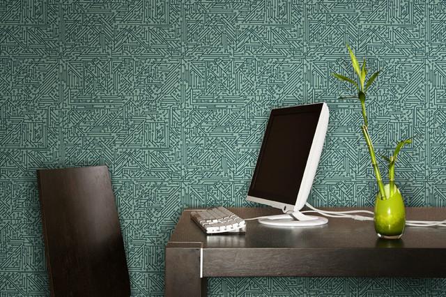 Circuit Board Wallpaper - Modern - Home