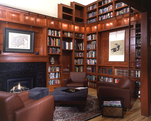 Shoreline architect Scott Hommas designed this craftsman style library.