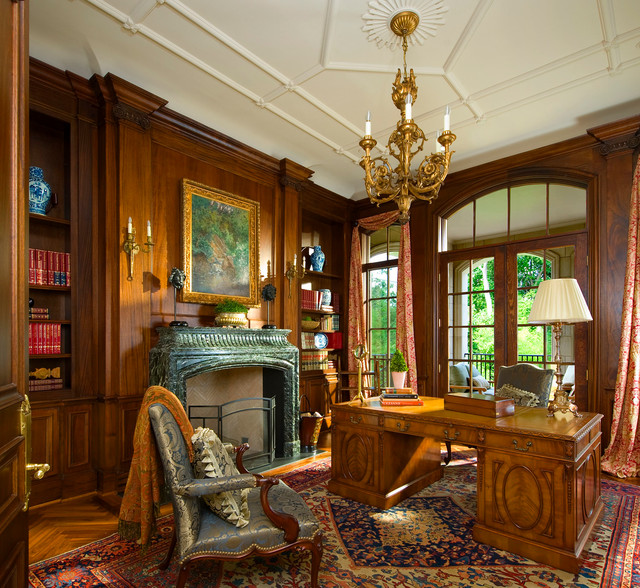 Classic French House American Traditional Home Office