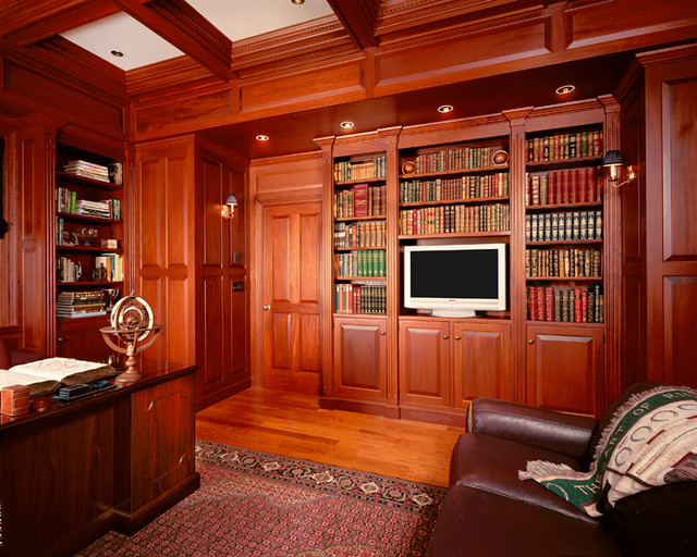 classic home office. classic library traditional-home-office home office c