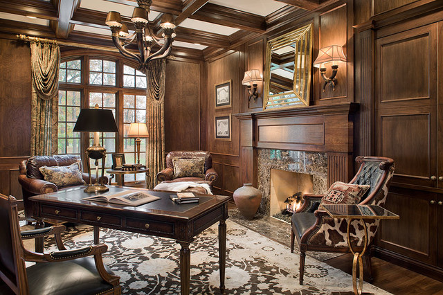 classic luxury traditional home office