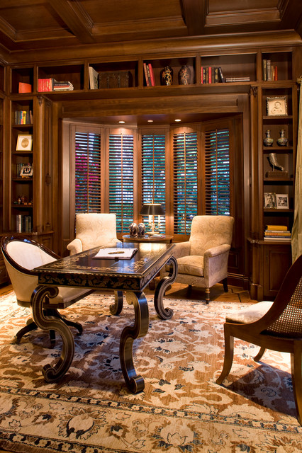Classic Traditional Residence - Traditional - Home Office - Orange ...