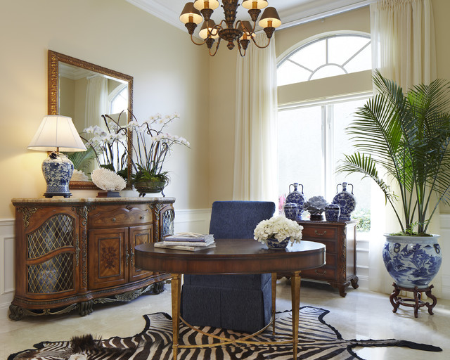 Classic transitional traditional home office other for Office design houzz
