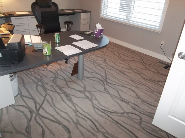 Clayton MO ~ Carpet For Home Office Contemporary Home Office And Library