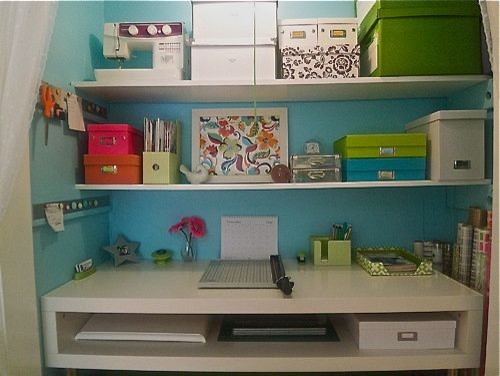 Closet Offices / Becky Harris eclectic-home-office