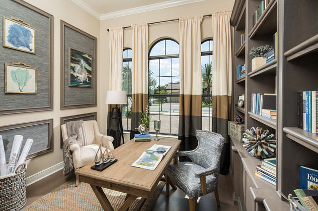 Coastal modern beach style home office miami by for Coastal home office