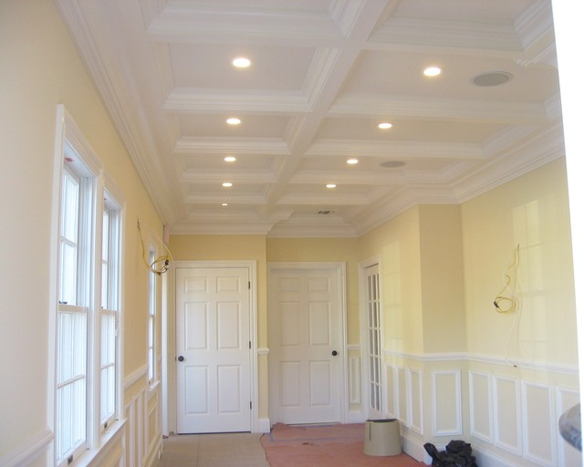 Coffered ceiling and office remodel home-office