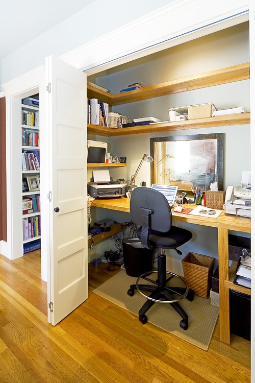 Closet office downsize my space for Office design houzz