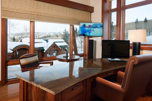 Colorado Ski House transitional-home-office