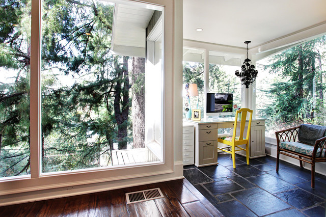 Colorful Cottage transitional-home-office