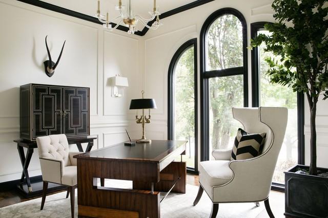 Complete home design transitional home office kansas for Office design kansas city