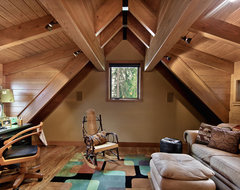 Concrete Floored Abode - a cabin on Lake Wenatchee rustic-home-office