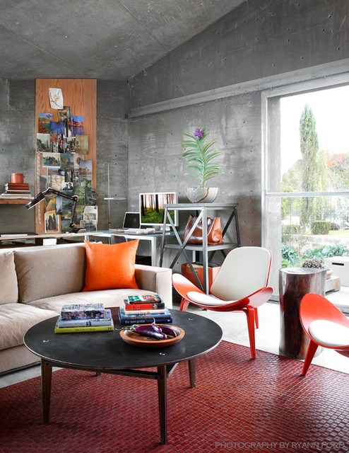 Concrete Studio contemporary home office