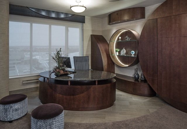 Condo on the Riverfront contemporary-home-office