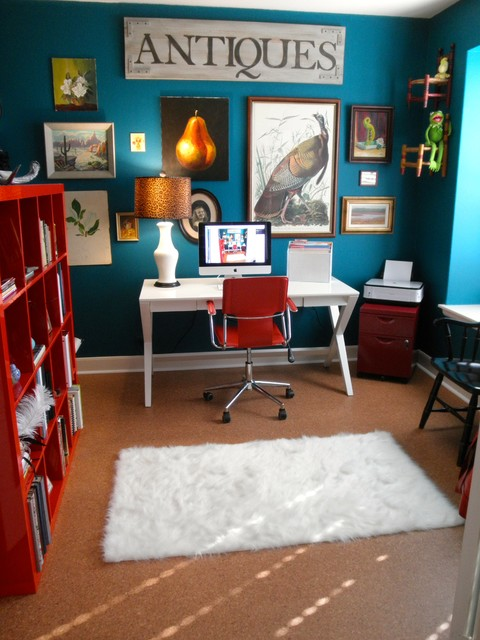 Condo Update eclectic-home-office
