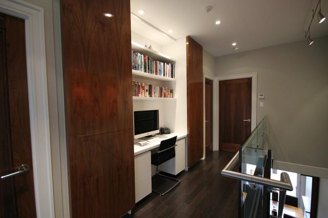hallway office. Contemporary Hallway Office Nook Modern-home-office