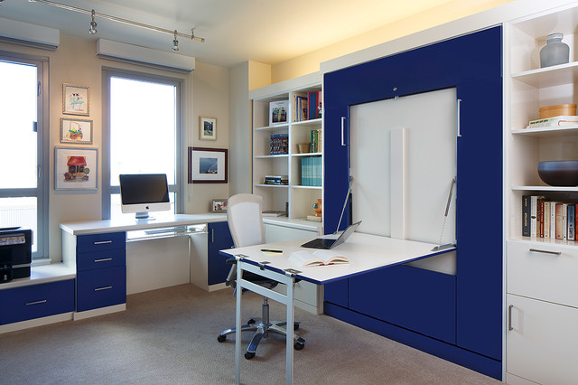 Superieur Contemporary Home Office And Guest Room Contemporary Home Office And Library