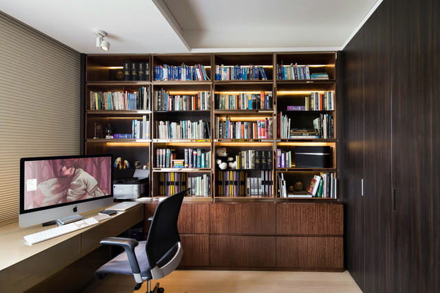 contemporary home office library contemporary home office