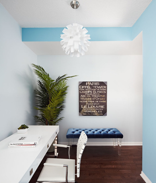 Small apartments big style contemporary home office for Houzz small apartments