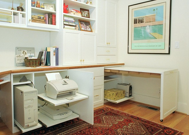 Inspiration for a contemporary home office remodel in Other
