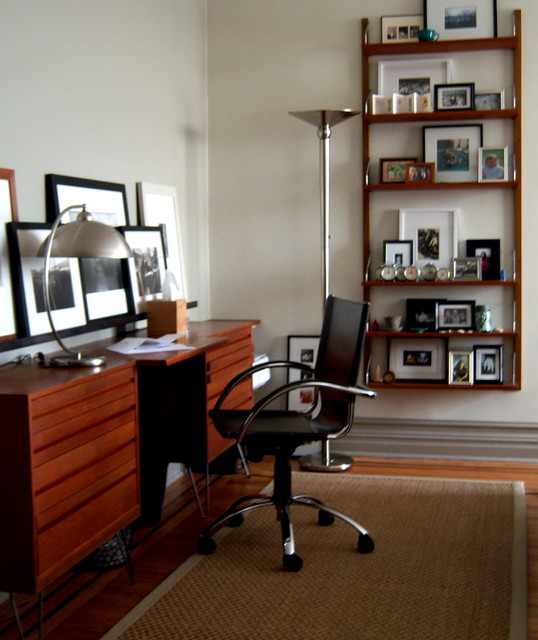 mid-century desk contemporary-home-office