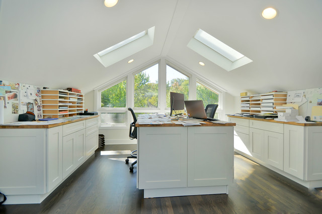 Contemporary Home Office transitional-home-office