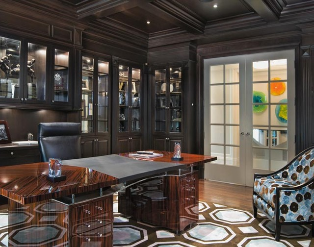 Contemporary Interior Design - Alpine, New Jersey contemporary-home-office