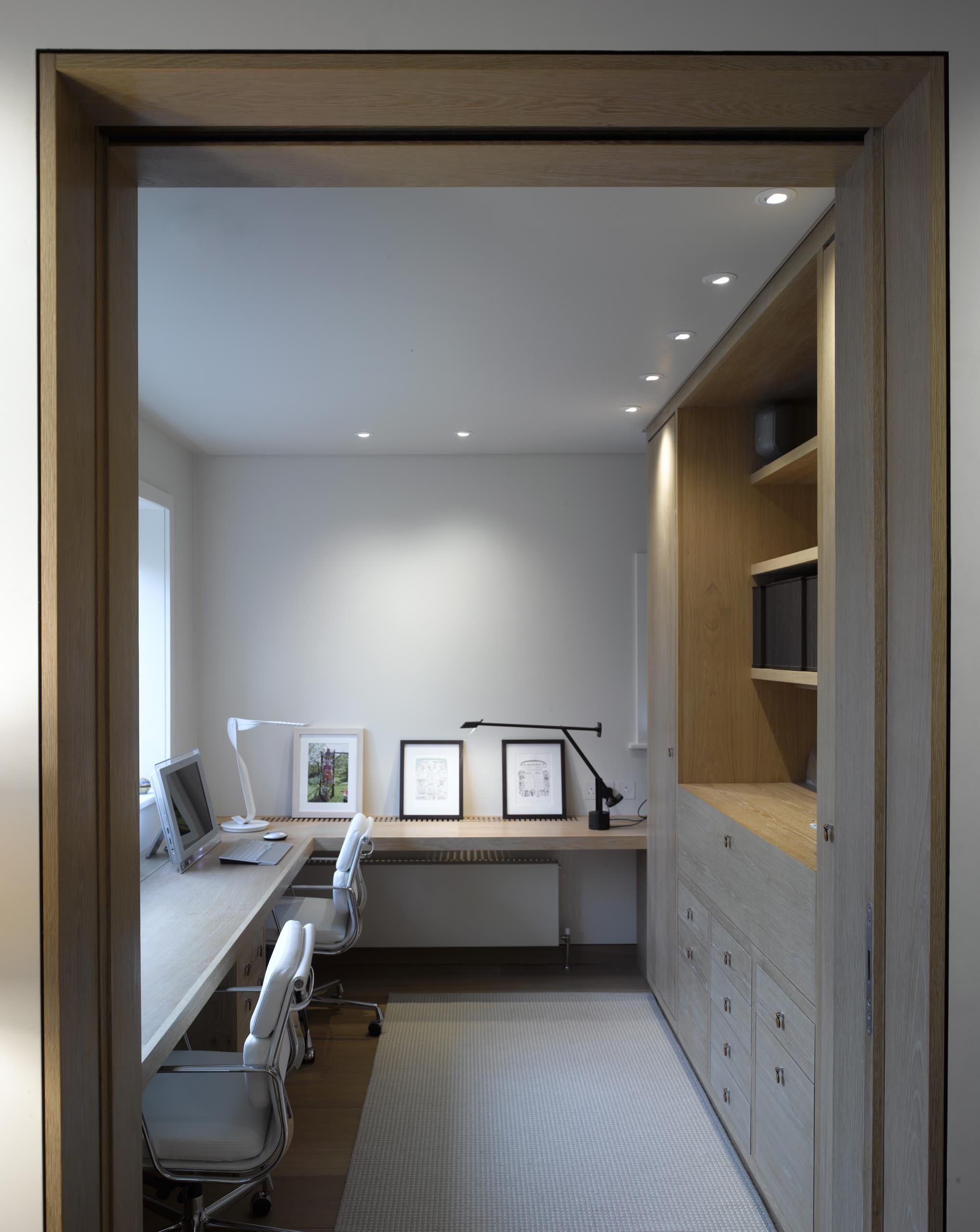 75 Beautiful Home Office With White Walls Pictures Ideas April 2021 Houzz