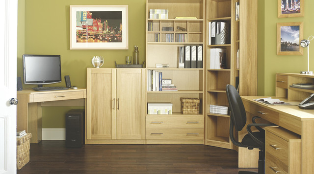 Contemporary Oak Modular Office Furniture Contemporary Home Office Library Hampshire