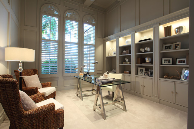 Contemporary office contemporary home office miami for Office design houzz