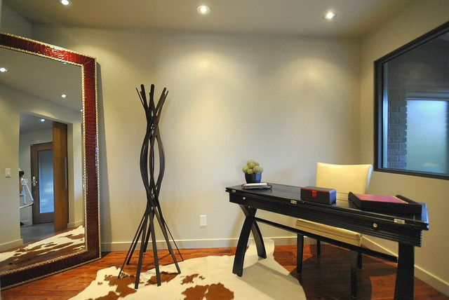 Contemporary Office Space Staged by Revealing Assets - Home Staging Services contemporary-home-office