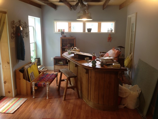 converting a garage into a henhouse farmhouse home office philadelphia by eco building. Black Bedroom Furniture Sets. Home Design Ideas