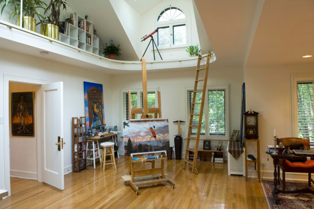 Cool artist studio river forest illinois contemporary home office chicago by sher - Home art studio ...