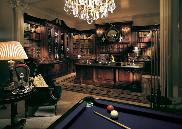 Cool Luxe Study - Traditional - Home Office - london - by Clive Christian San Francisco