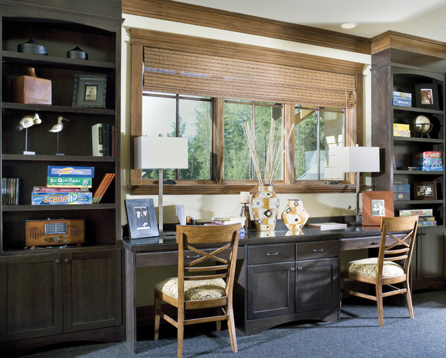 Copper falls traditional home office portland by for Office design houzz