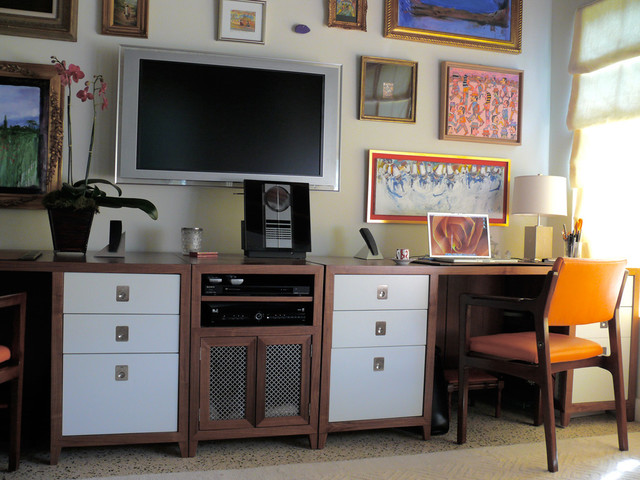 Coral Gables contemporary-home-office