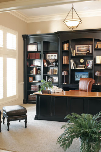 Coranado traditional home office