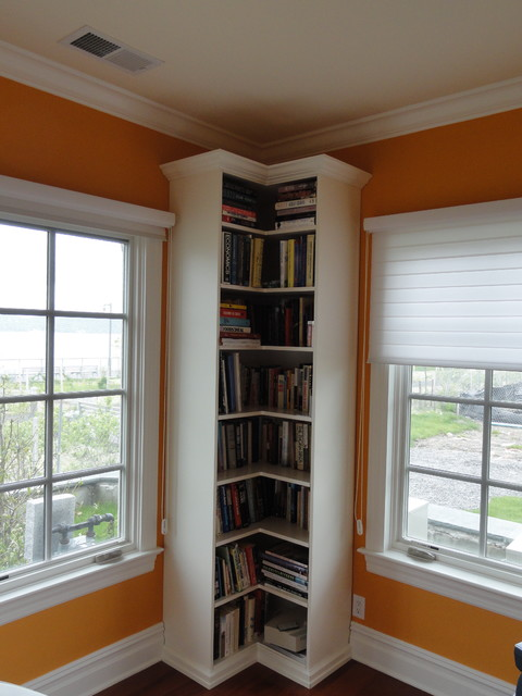 Corner Bookcase Traditional Home Office New York
