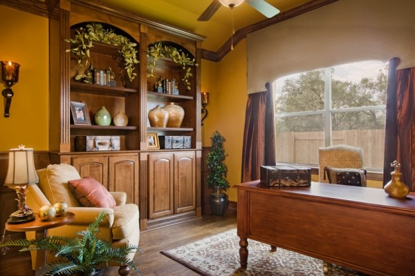 Cortona Study by Sitterle Homes traditional-home-office