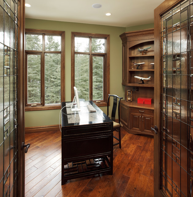 country residence traditional home office calgary by maillot