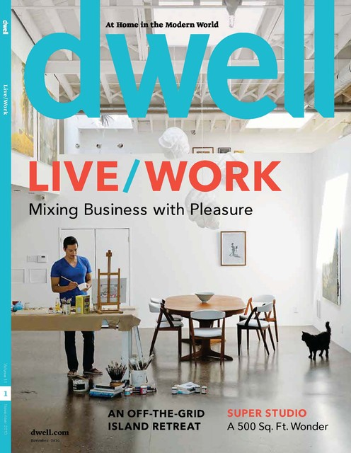 Cover of DWELL Magazine, November 2010 modern-home-office-and-library