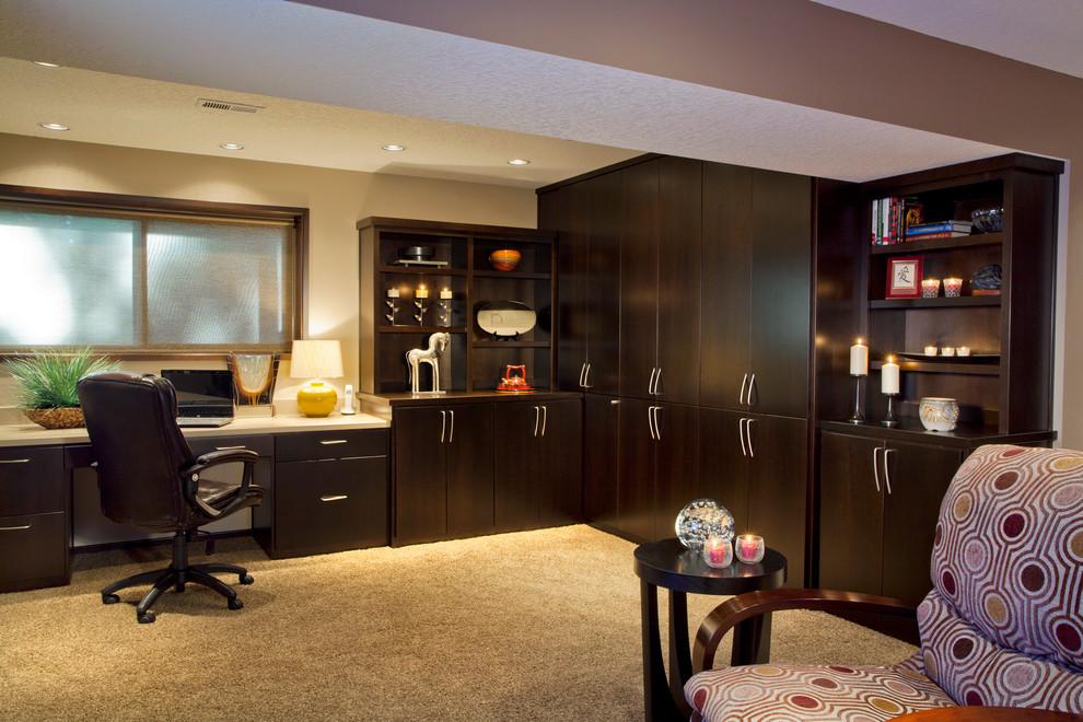 COZY BASEMENT - STORAGE / DESK AREA - Traditional - Home Office - Portland  - by L.EvansDesignGroup,inc