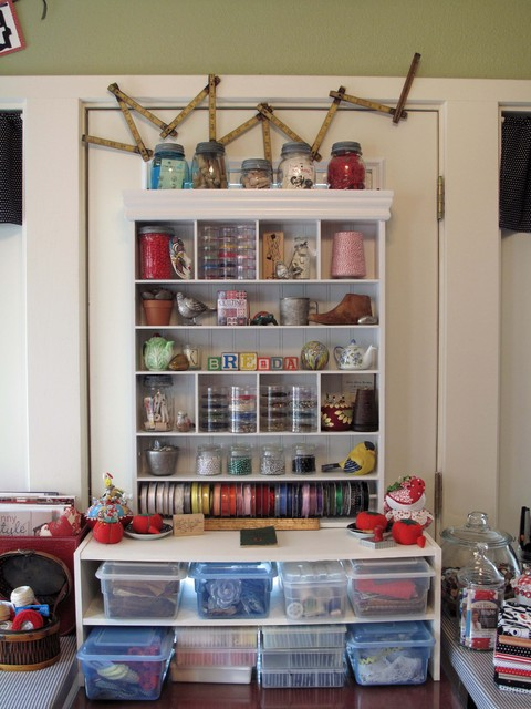 Cozy Sewing Space Eclectic Home Office Dallas By