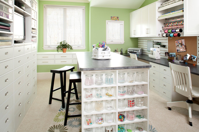 Craft Room traditional-home-office