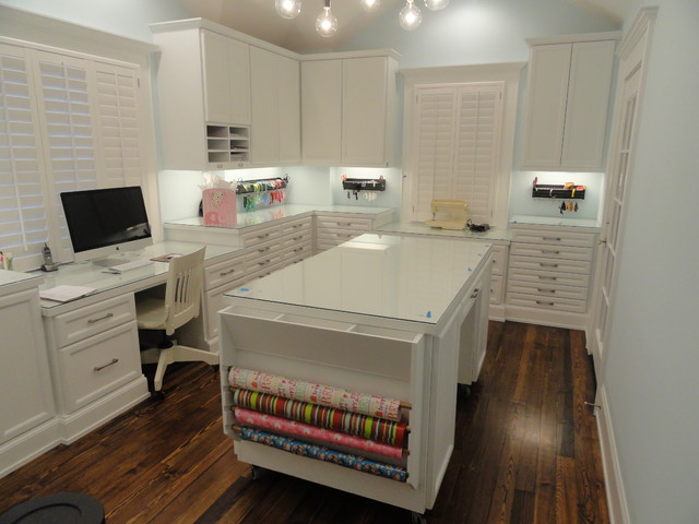 Craft room traditional home office houston by Collaborative office interiors houston