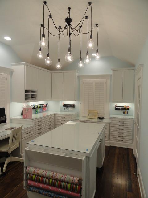 lighting craft room design. craft room traditionalhomeofficeandlibrary lighting design w