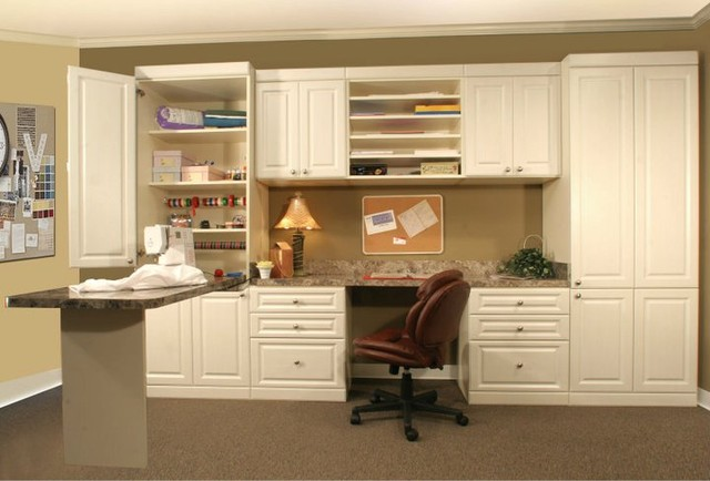 Marvelous Craft Room Desk Traditional Home Office